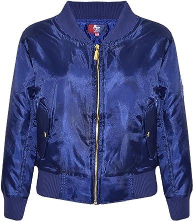 A2Z 4 Kids/® Boys Girls Jackets Kids Olive Bomber Padded Quilted Zip Up Biker Jacket MA1 Coat