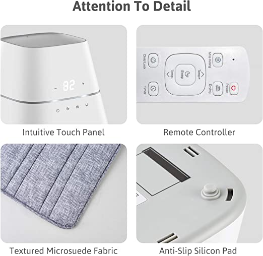 AirQuiet and Dual-Tand Technologies Intelligent NEAT AquaPad Hydronic Heating Mattress Pad with Remote Controller 2021 Version Safe and Save All Digital Innovative Design