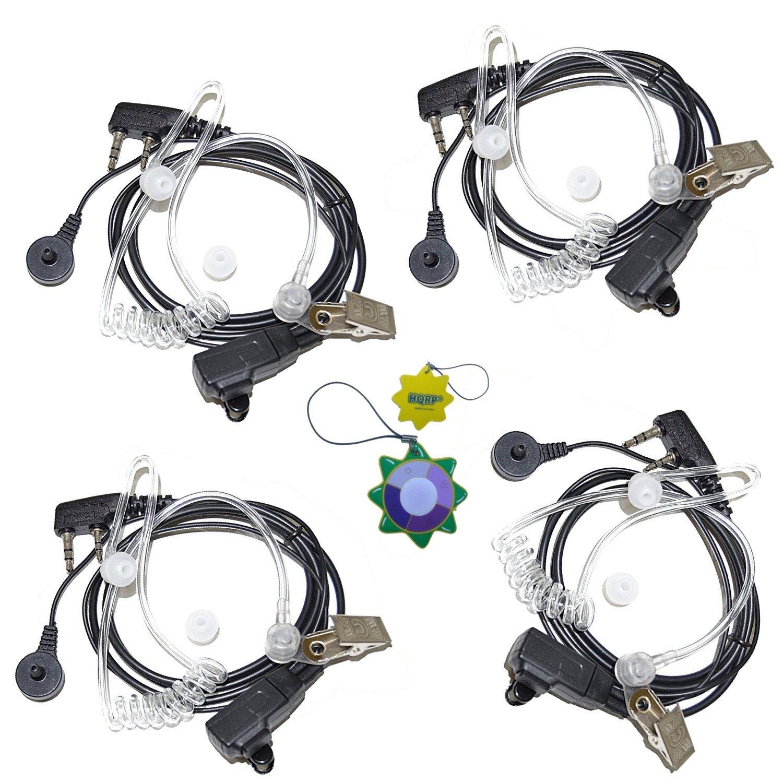 HQRP Cuatro 2-Pin Micro-Auriculares Micrófonos Tubo Acústico para Kenwood TK-2360 / TK-2400 / TK-2402 / TK-3100 / TK-3101 / TK-3102 Talkie-Walkie + HQRP ...