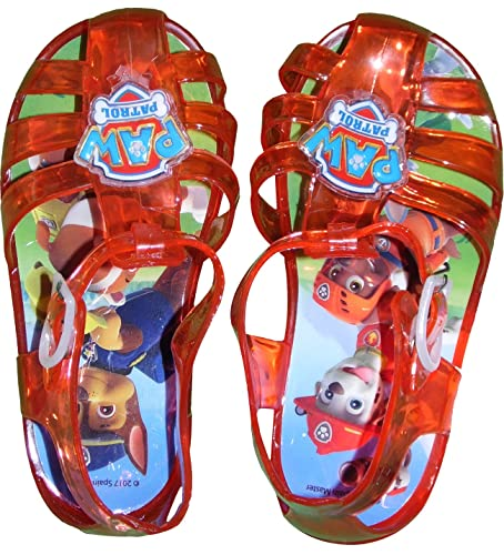 bc4dcc8d7380 Kids Nickelodeon PW11163 Paw Patrol Pool Beach Jelly Shoes Sandals UK 5 to  10  Amazon.co.uk  Shoes   Bags