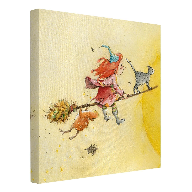 Bilderwelten Leinwandbild - Frida und Kater Pumpernickel - Quadrat 1:1, 60cm x 60cm