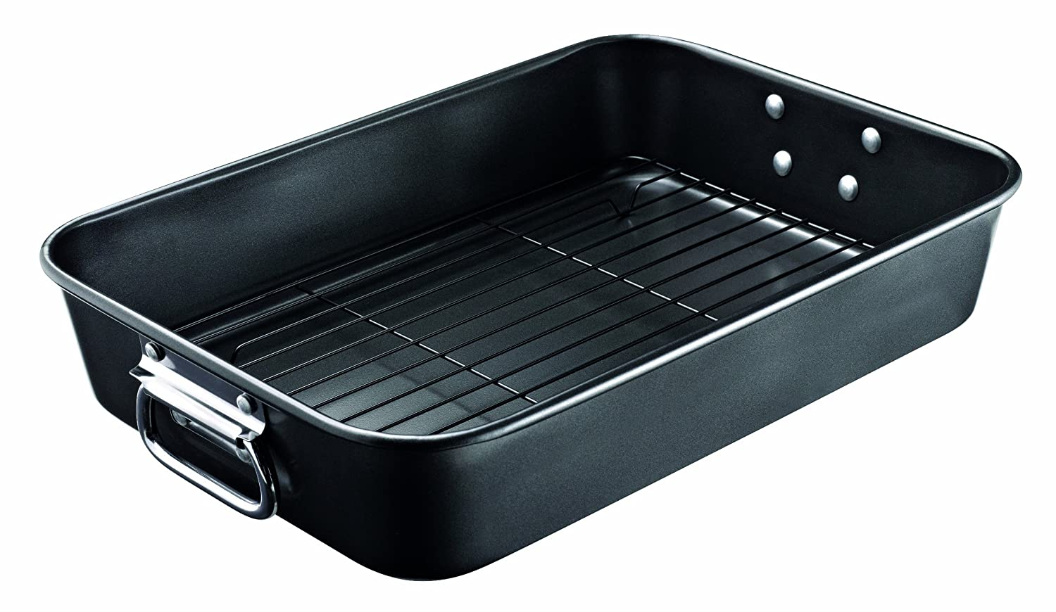 Prestige Create Steel Oven Roaster with Rack - Black Meyer Group Ltd 57990