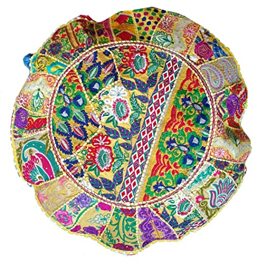 Rastogi artesanías - Almohada de meditación Indian puf ...