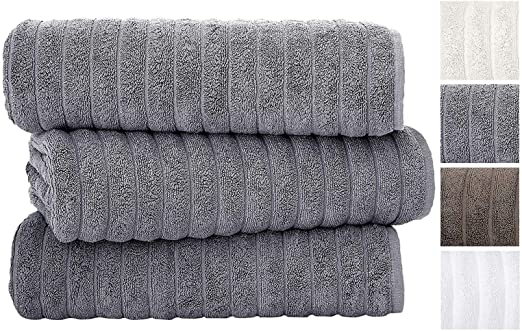 Classic Turkish Towels 3 Piece Luxury Bath Sheet Set 40 x 65 100/% Turkish Cotton