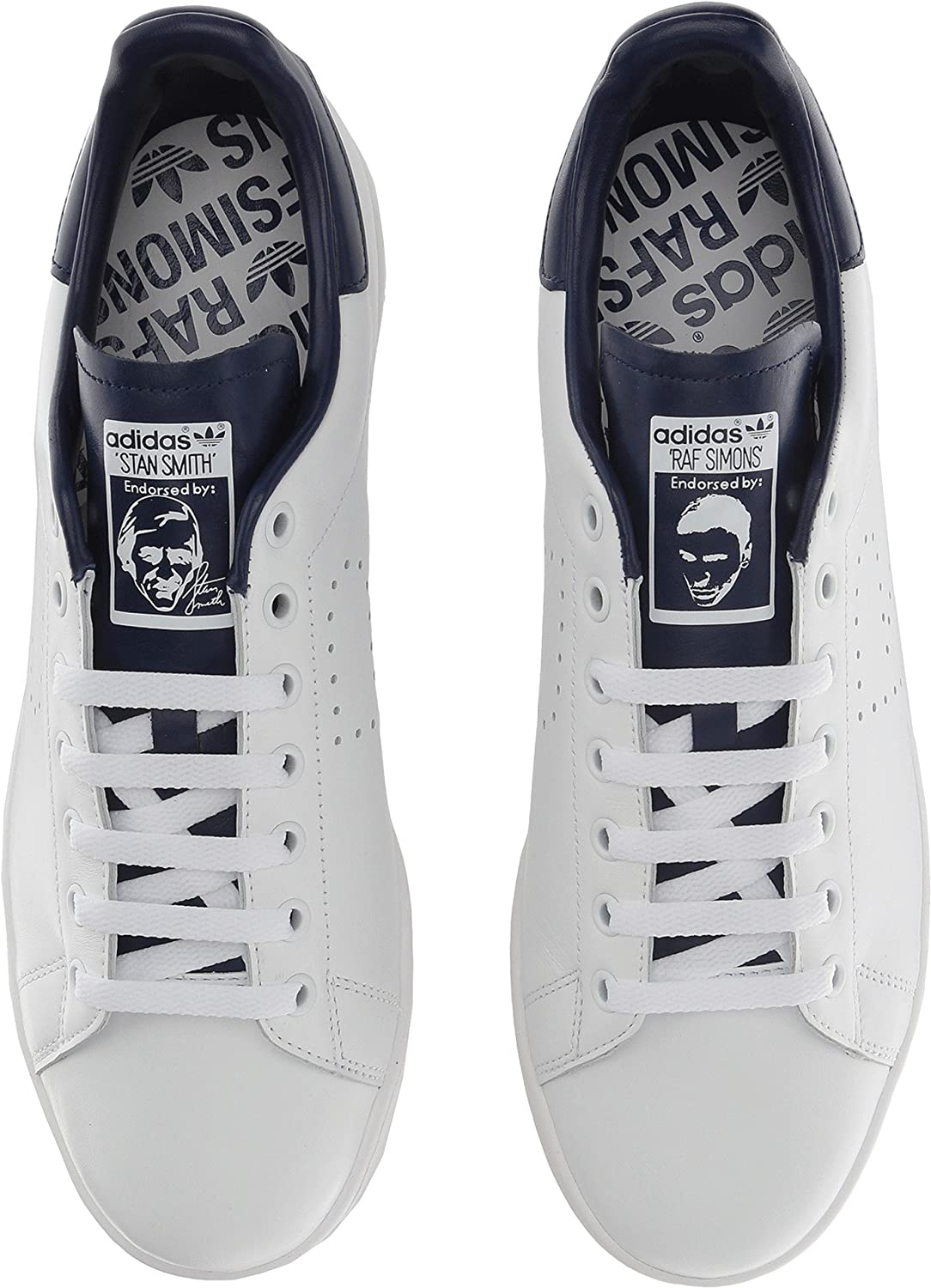 adidas Women's RAF Simons Stan Smith Sneakers B079R4JWWY 8 D UK|Footwear White/Night Sky/Footwear White