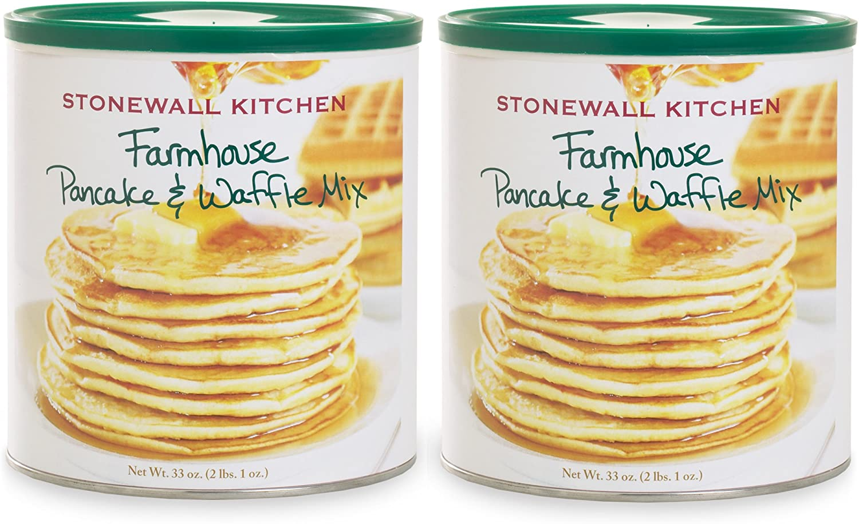 Stonewall Kitchen Farmhouse Pancake and Waffle Mix, 33 Ounce (Pack of 2)
