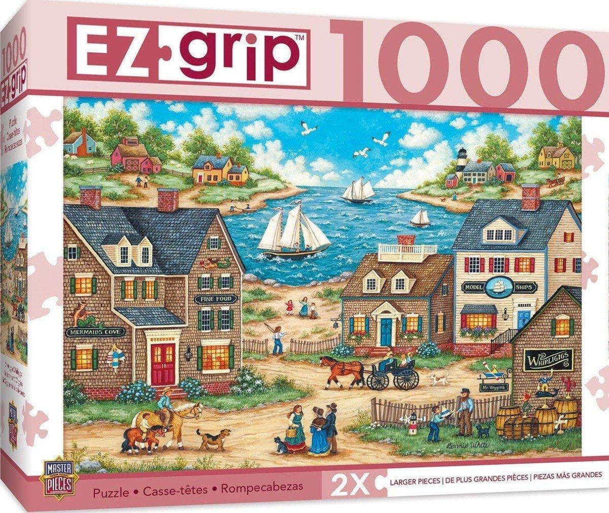 Amazon.com: MasterPieces EZ Grip Mr. Wiggins Whirligigs Large EZ Grip Jigsaw Puzzle by Bonnie White, 1000-Piece: Toys & Games