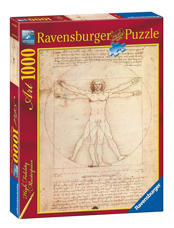 Ravensburger 15250 Leonardo: Uomo Vitruviano Puzzle 1000 pezzi Arte Ravensburger Italy