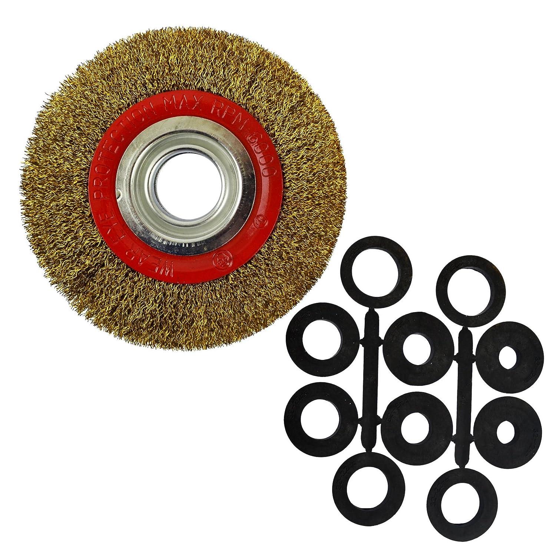 Cable De Acero Rueda 150mm con cepillo Adaptadores 6 & amp; 20.3cm Amoladoras De Banco SIL288 AB Tools