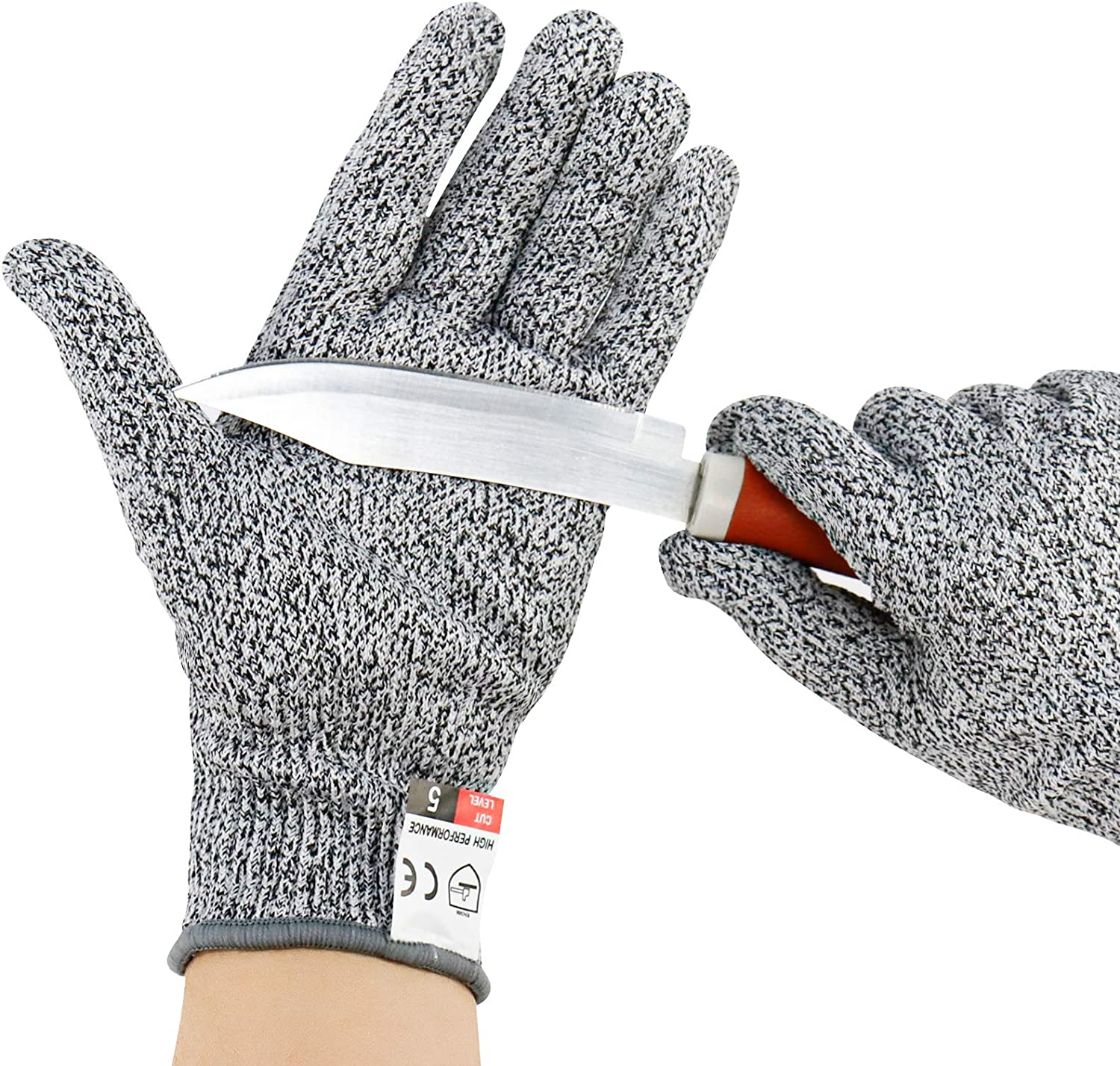 Cut Resistant Gloves for Kitchen - Food Grade Level 5 Protection, 1 Pair