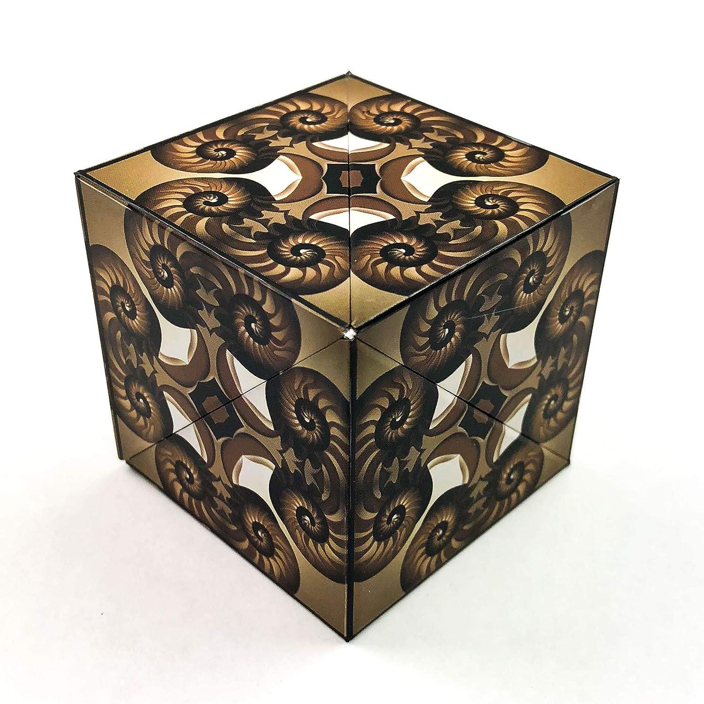 GeoBender Magiccube White – Faltwürfel, Geometriepuzzle, Geowürfel mit Magneten für Geduld, Haptik und Dynamik, Spaß für Kinder und Erwachsene