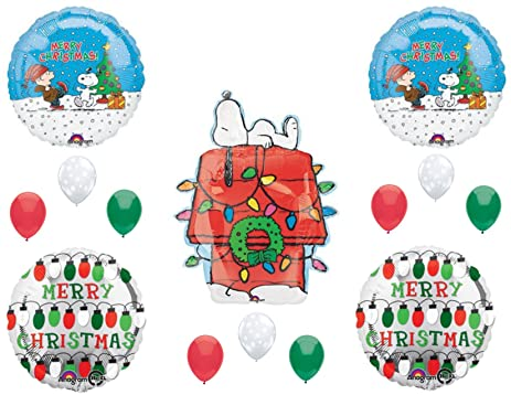 peanuts snoopy christmas party balloons decoration supplies charlie brown