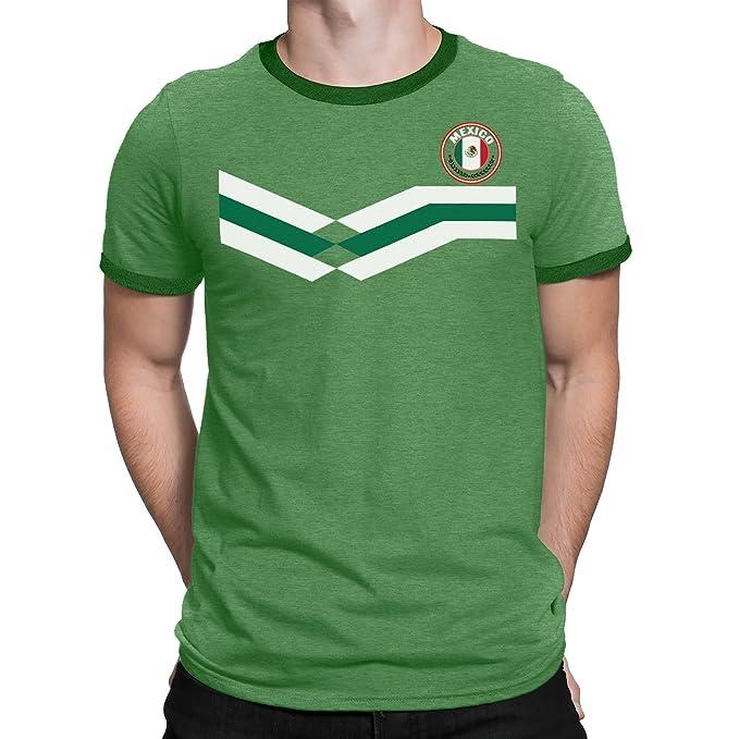 Tee Spirit Mexico Camiseta Para Hombre World Cup 2018 Fútbol New Style Retro: Amazon.es: Ropa y accesorios