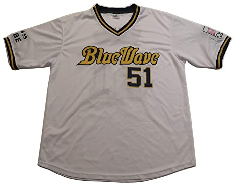 new style 4831c d610c Amazon.com: Kooy Ichiro Suzuki #51 Blue Wave Orix Baseball ...