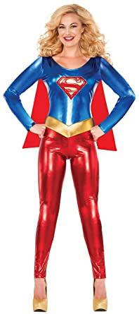 Delicious of NY Womenu0027s DC Comics Deluxe Supergirl Catsuit Costume Multi X-Small  sc 1 st  Amazon.com & Amazon.com: Delicious of NY Womenu0027s DC Comics Deluxe Supergirl ...
