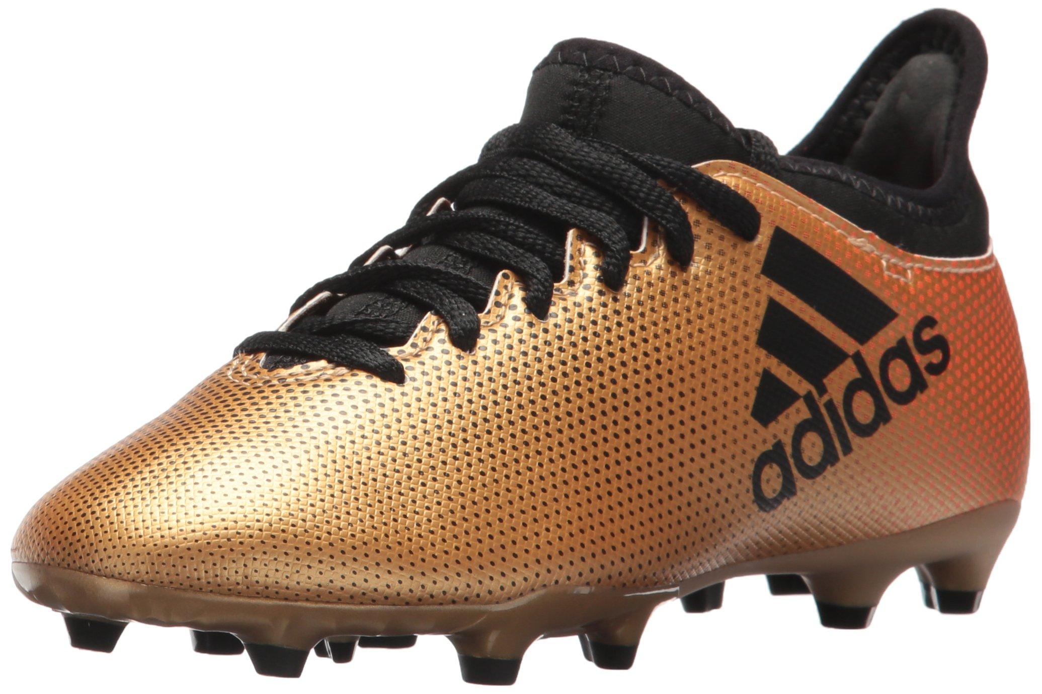 adidas Boys' X 17.3 FG J, Tactile Gold/core Black/Solar red, 5 M US Big Kid