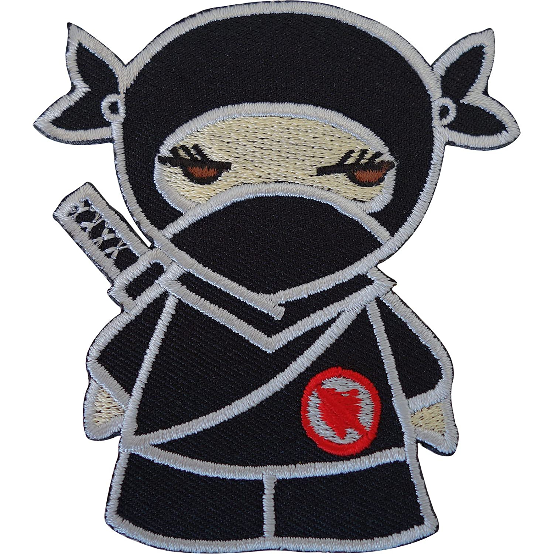 Negro Ninja Girl hierro bordado/para coser en la ropa parche ...