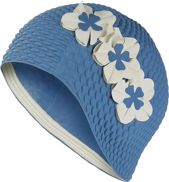 Fashy Ladies Flower Pattern Swimming Caps