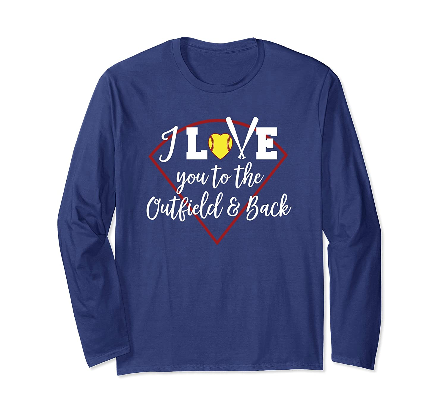 I Love You To The Outfield And Back Softball Mom Gift Shirt-anz