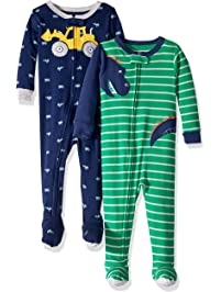 Carter s Baby Boys  2-Pack Cotton Footed Pajamas b2380b612