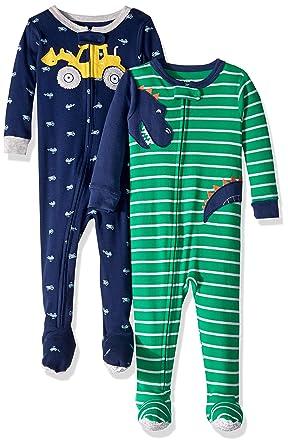 ac41d7233ee8 Carter s Baby-Boys 2-Pack Cotton Pajamas Sleepers  Amazon.co.uk ...