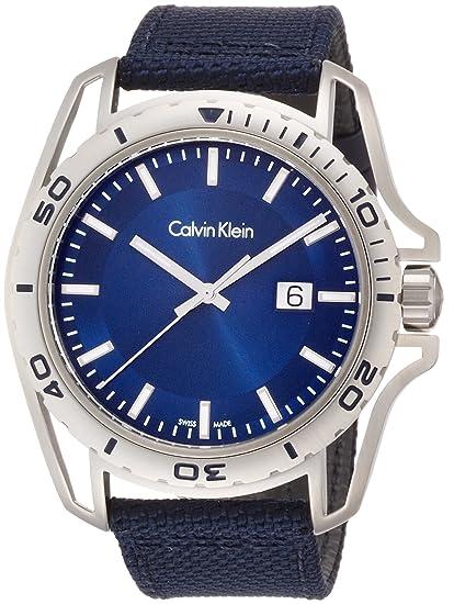 Calvin Klein Reloj Analógico para Hombre de Cuarzo con Correa en Tela K5Y31UVN