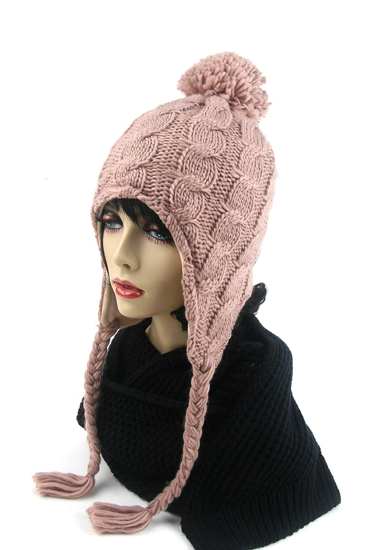 Women's Trapper Knit Winter Ear Flap Hat P212 2 pcs P212-Sa-Sa