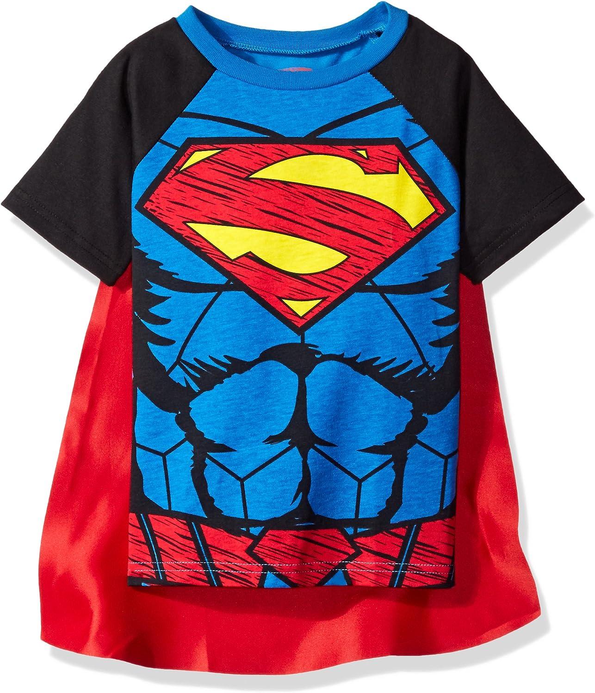 Warner Brothers Toddler Boys Superman Cape T-Shirt Set, Blue, 2T