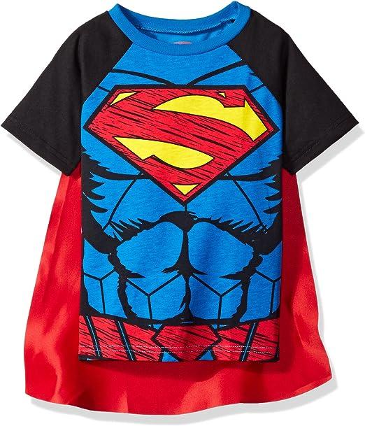 DC Comics Camiseta con Capa - Supermán y Batman - Disfraz para ...
