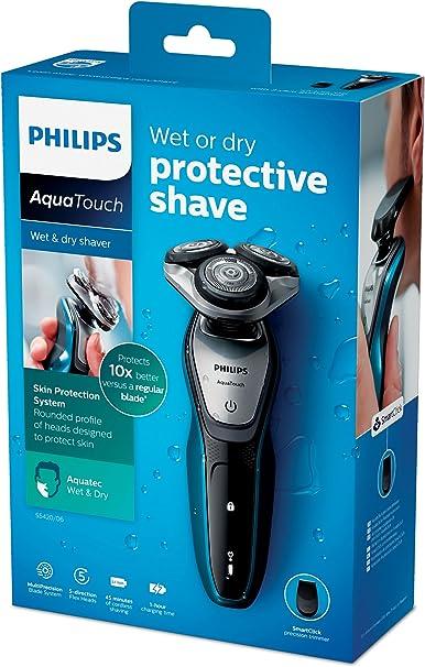 Afeitadora Philips AquaTouch para afeitar en húmedo y en seco, recortador de precisión, S5420/06: Amazon.es: Salud y cuidado personal