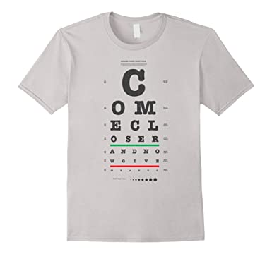 Amazon Vision Test Eye Chart Come Closer Give Me A Hug Funny
