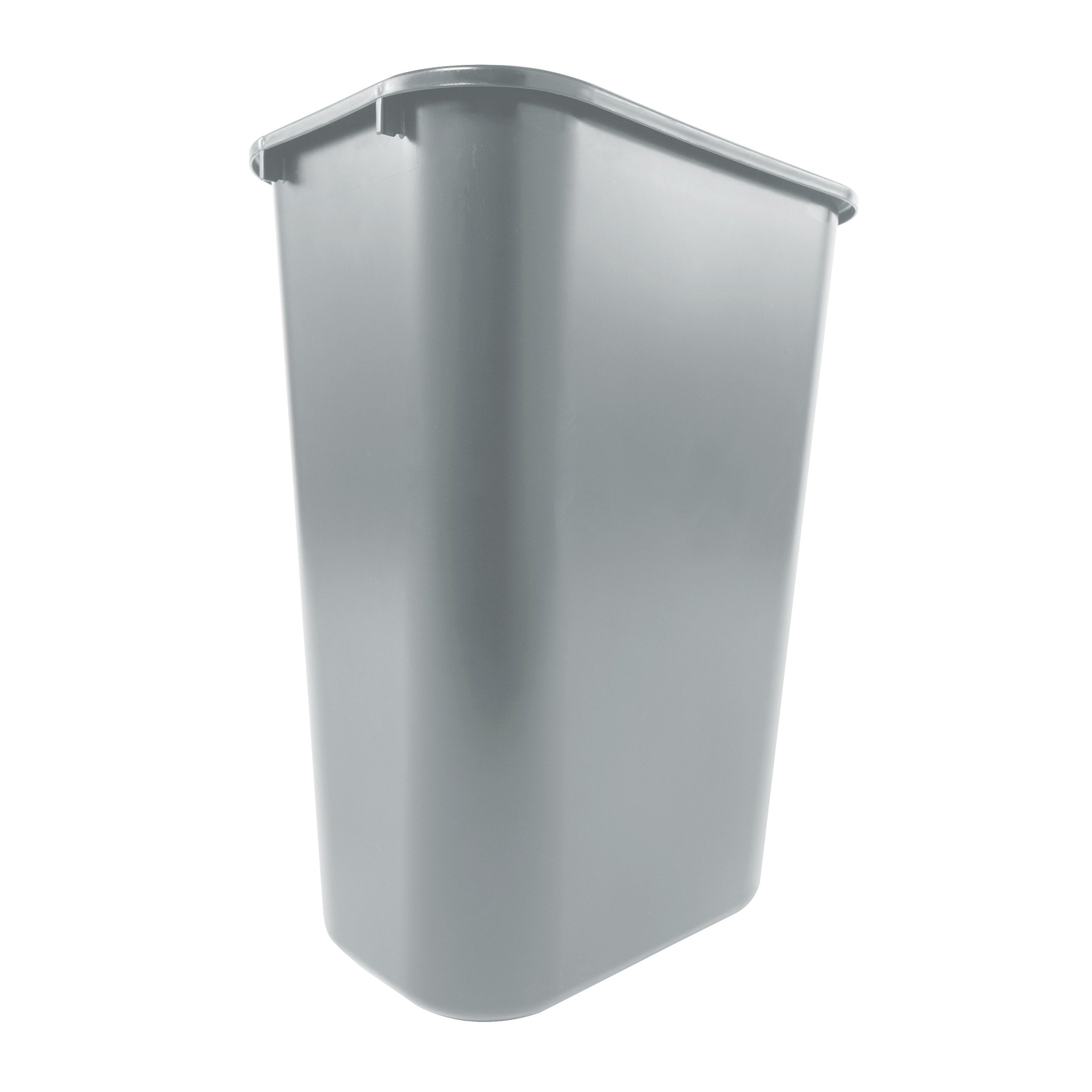 Rubbermaid Commercial Products Fg295700Gray Plastic Resin Deskside Wastebasket, 10 Gallon/41 Quart, Gray by Rubbermaid Commercial Products