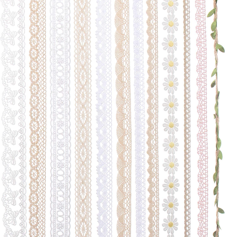 Color Bridal Wedding Dress DIY Craft Sewing Decoration IDONGCAI Lace Ribbon Assorted Lace Trim Ribbon