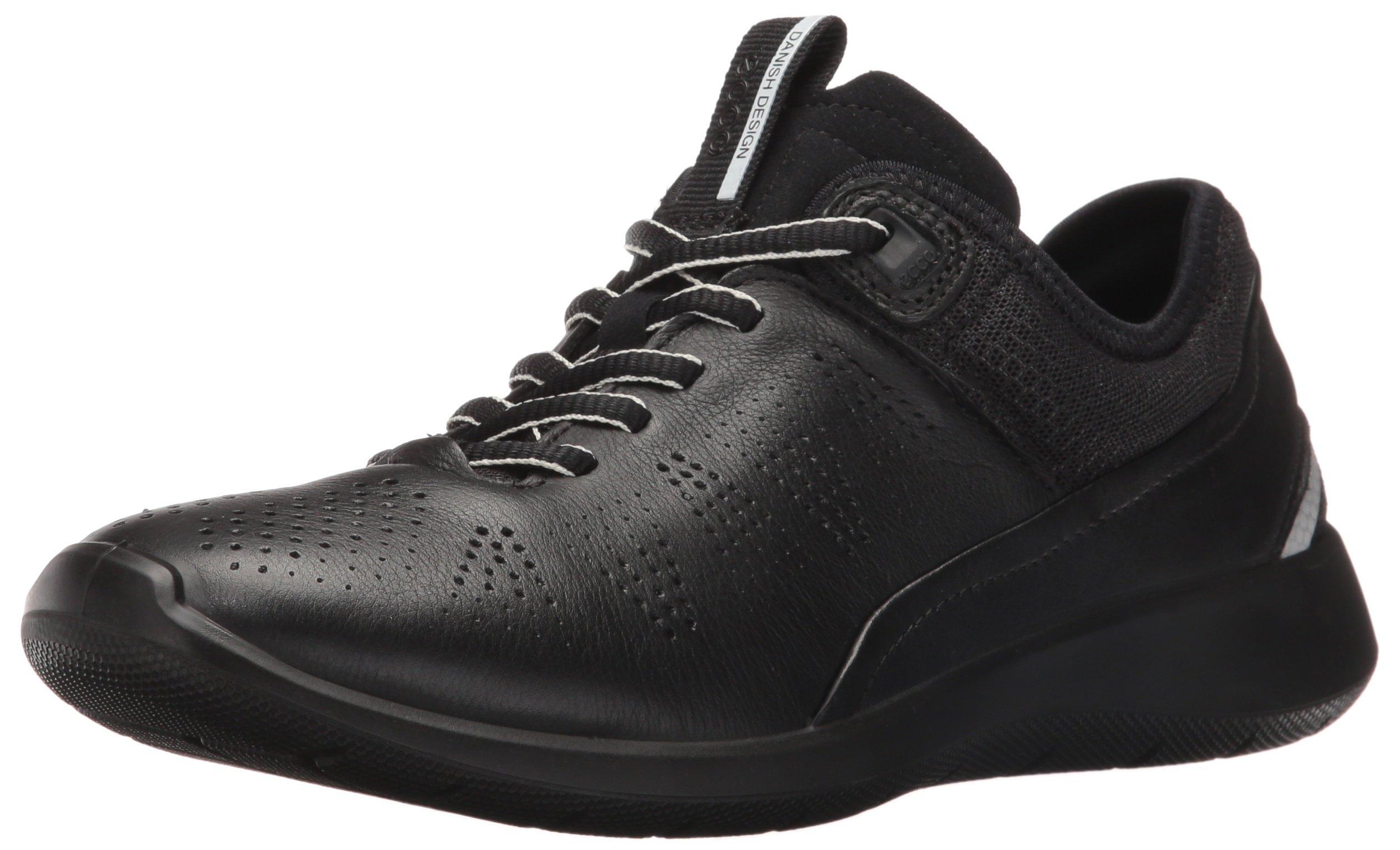 ECCO Women's Women's Soft 5 Sneaker Oxford, Black/Black/Concrete, 42 EU/11-11.5 M US