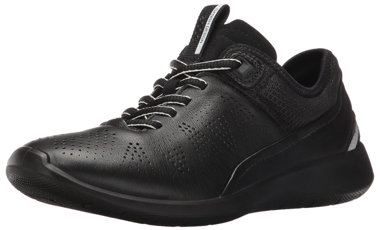 ECCO Women's Soft 5 Sneaker B01ELFXFF6 35 EU/4-4.5 M US|Black/Black/Concrete