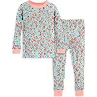 Burt's Bees Baby Baby Girls' Pajamas, Tee and Pant 2-Piece Pj Set, 100% Organic Cotton