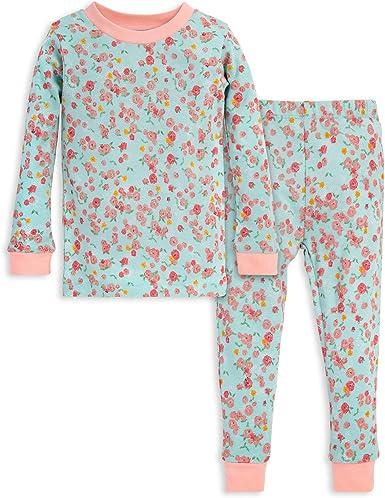 Burts Bees Baby Pijama de bebé unisex, camiseta y pantalón de 2 piezas, 100% algodón orgánico (12 meses a 7 años)