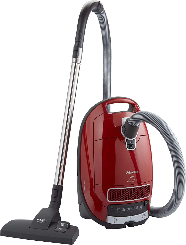 Miele S 8310 - Aspiradora (2200W, 230-240V, 50 Hz, Cilindro, Bolsa para el polvo, Acero inoxidable) Rojo: Amazon.es: Hogar