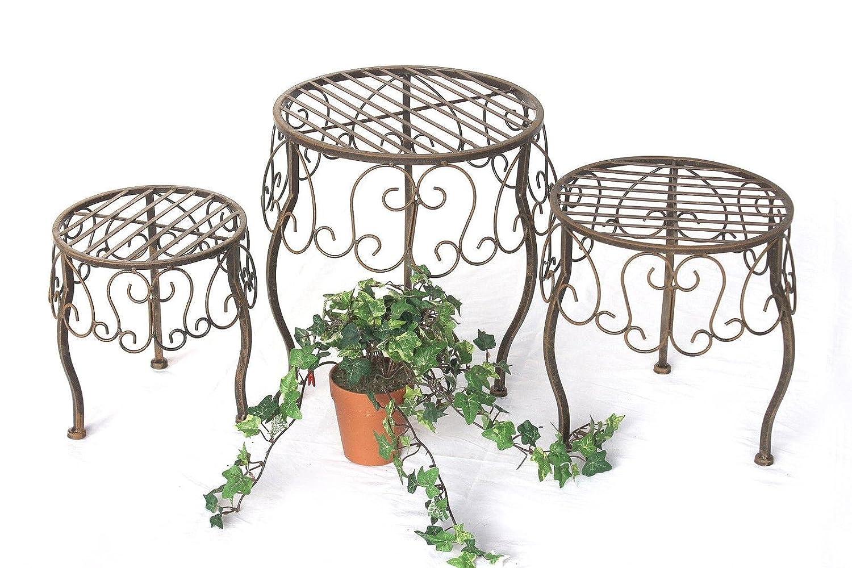 DanDiBo Blumenhocker 3er Set Blumenständer 140129 Pflanzenständer Hocker Beistelltisch