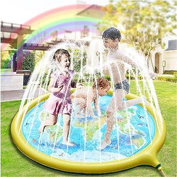 Hangrui Splash Pad, Almohadilla de aspersión Aspersor de Juego,Jardín de Verano Juguete para Niños de 180 cm, para Actividades Familiares Aire Libre /Fiesta /Playa/ Jardín: Amazon.es: Juguetes y juegos