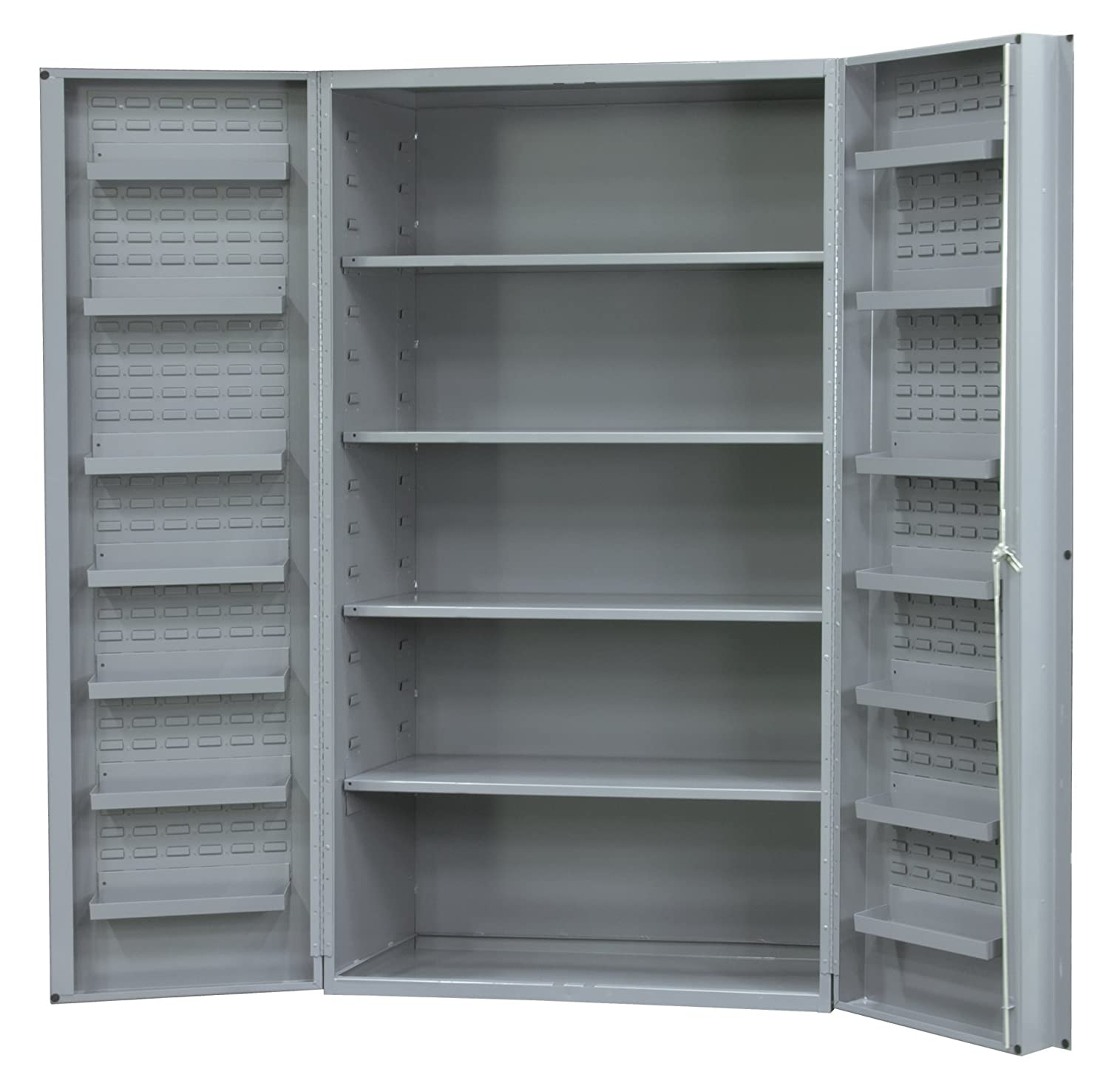Durham Heavy Duty Welded 14 Gauge Steel Cabinet with 12 Door Shelves