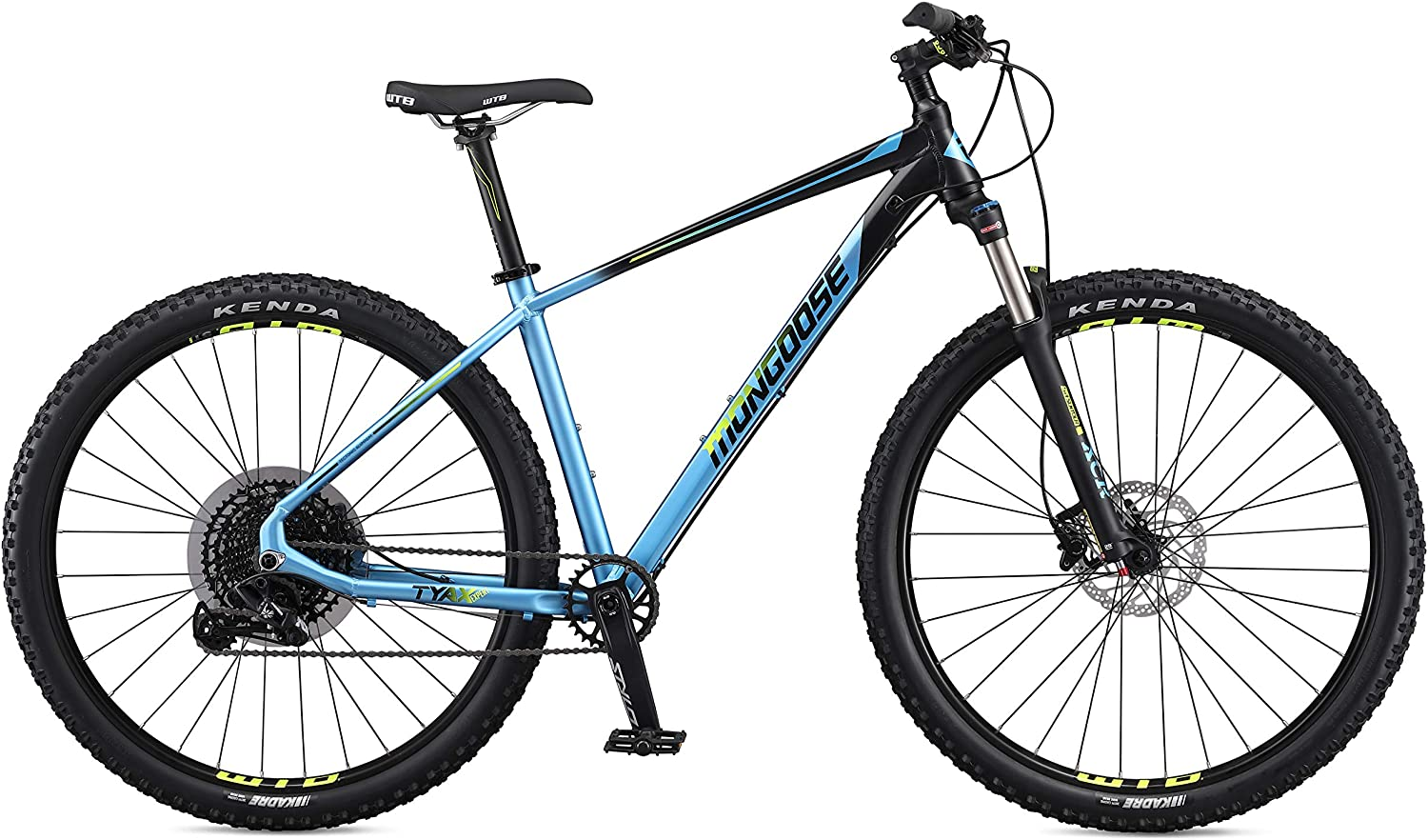 Mongoose Tyax Comp, Sport, and Expert Adult Mountain Bike