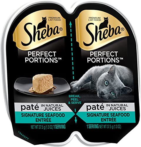 Mars Sheba Perfect Portions Premium Pate Entree Wet Sea Cat Food