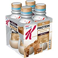 Special K Protein Shakes, Café Inspired, Vanilla Cappuccino, Gluten Free, 10 fl oz Bottles (4 Count)