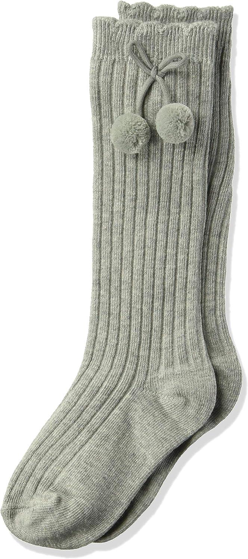 Knee Length Pom Pom Bow Socks