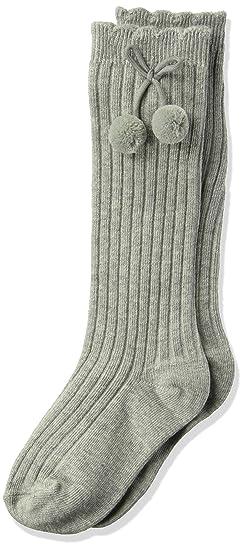 4c3a65549 Amazon.com  Jefferies Socks Girls  Little Rib Pom Knee High Socks 1 ...