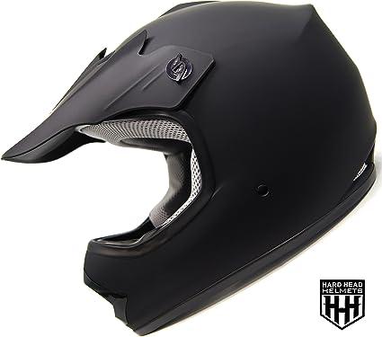 HHH DOT ADULT Helmet for Dirtbike ATV Motocross MX Offroad Motorcyle Street bike Snowmobile HELMET SmartDealsNow Large, Matte Black
