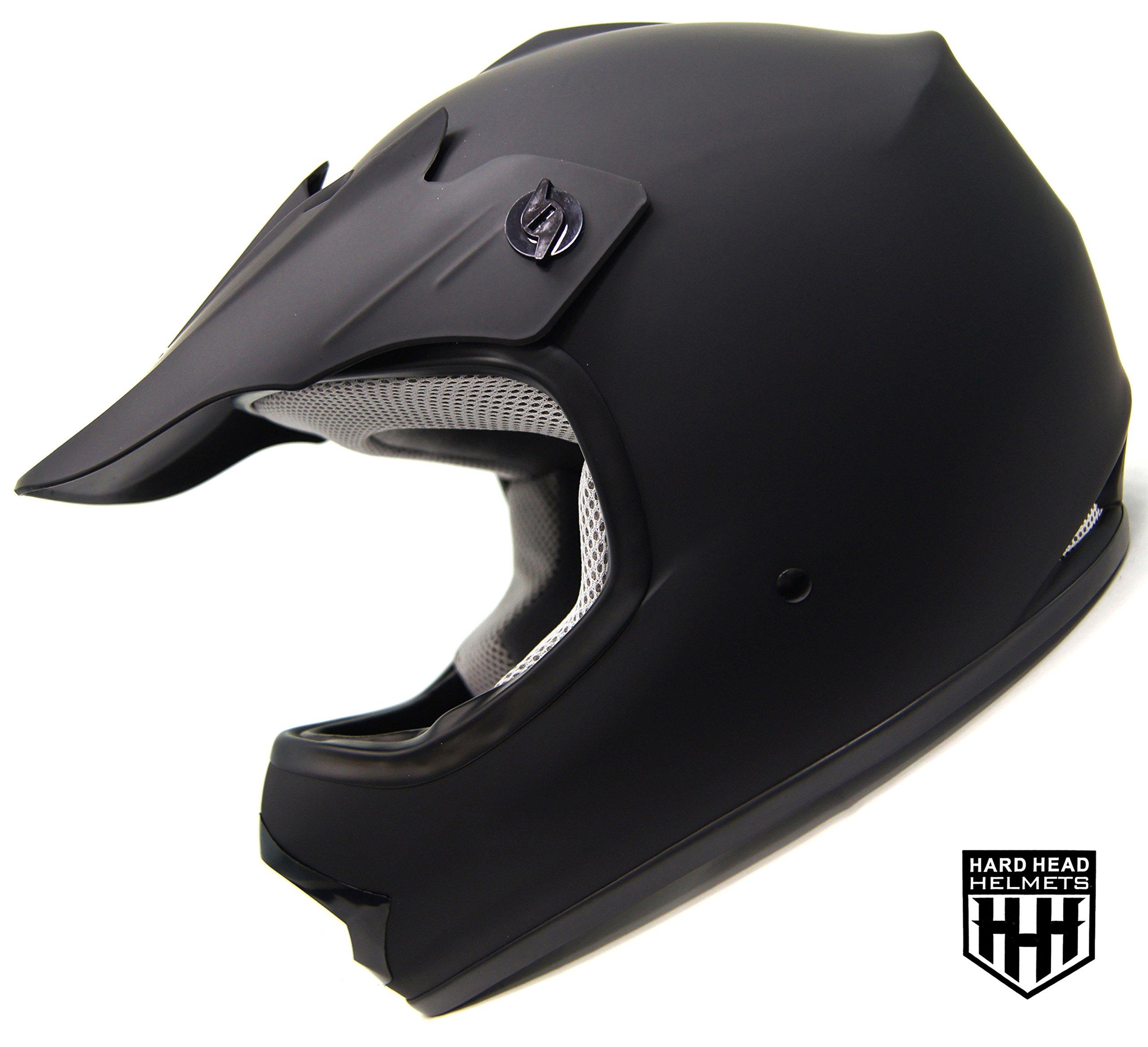SmartDealsNow - HHH DOT ADULT Helmet for Dirtbike ATV Motocross MX Offroad Motorcyle Street bike Snowmobile HELMET (Medium, Matte Black)