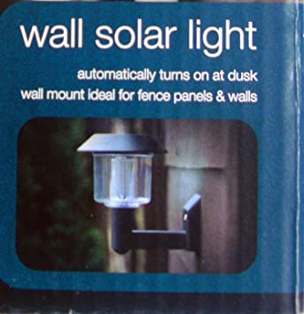 GARDEN OUTDOOR WALL SOLAR LIGHT AUTOMATIC TURN ON AT DUSK NO WIRING on