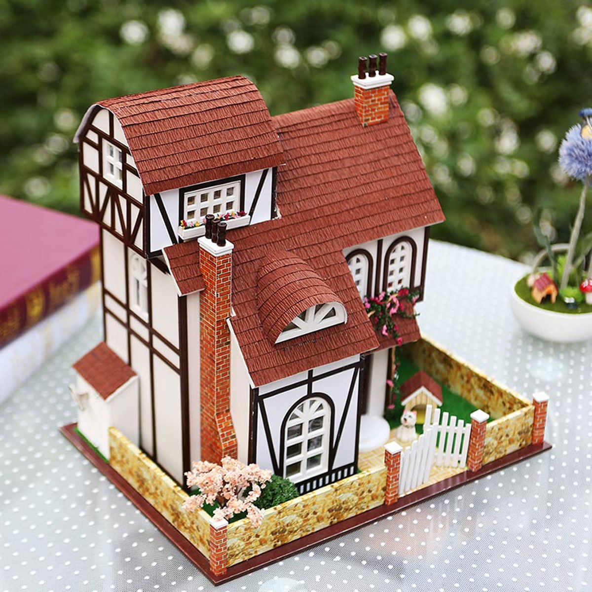Flower Town Series Dollhouses Accessories Dolls Houses with Furniture /& LED /& Music Box Best Xmas Gift for Women and Girls Rylai 3D Puzzles Wooden Handmade Miniature Dollhouse DIY Kit w// Light
